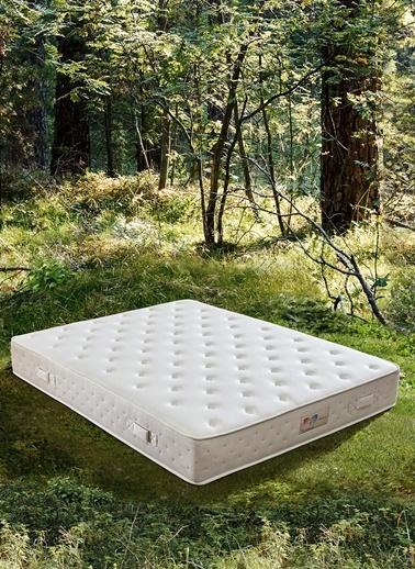 Hibboux Botanic Pocket Yaylı Yatak 180x200 Beyaz